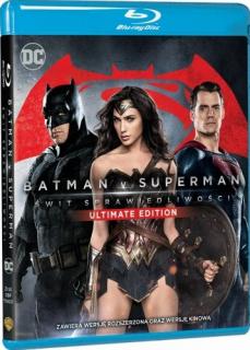 Batman v Superman: Świt sprawiedliwości - Ultimate Edition - okładka Blu-ray