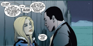 Przez krótki czas spotykała się z Wonder Manem i Spider-Manem; jej niedawny obiekt westchnień, James Rhodes aka War Machine, zginął w czasie walki z Thanosem, co wywołało w Carol wielką traumę