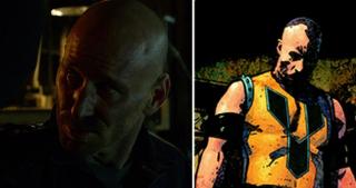 Strój Daredevila wykonał Melvin Potter - przypomnijmy, że w komiksach jest on bardziej znany jako złoczyńca Gladiator; w czasie walki z Mattem ma on na sobie koszulkę przywodzącę na myśl jego żółty strój z komiksów