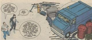 Jeśli zastanawialiście się, dlaczego Frank podróżuje akurat vanem - cóż, jego historia z tymi autami ma w komiksach długą, sięgającą jeszcze lat 70. tradycję