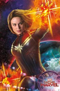 Kapitan Marvel - plakat filmu