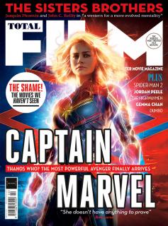 Kapitan Marvel - okładka Total Film