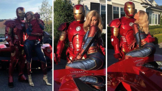 Kylie Jenner i Travis Scott (Kapitan Marvel i Iron Man)