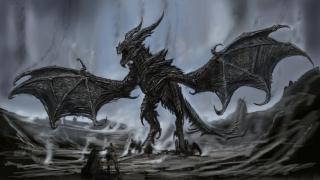 Alduin, Pożeracz Światów - jedna z najpotężniejszych istot z The Elder Scrolls V: Skyrim, potrafiąca kontrolować inne smoki.