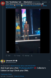 Keanu Reeves zapowiada Cyberpunk 2077