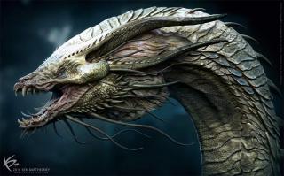 Godzilla 2: Król Potworów - Król Ghidorah - szkic koncepcyjne