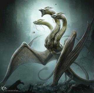 Godzilla 2: Król potworów - szkic koncepcyjny Króla Ghidorah