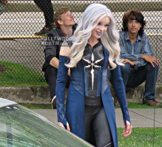 Flash - Killer Frost na zdjęciu z planu
