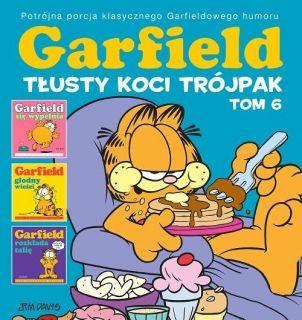 Garfield. Tłusty koci trójpak, tom 6 - okładka
