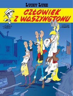 Lucky Luke. Człowiek z Waszyngtonu, tom 73 - okładka