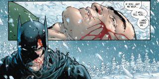 Batman podąża na Syberię za złoczyńcą znanym jako KGBeast, który wcześniej postrzelił Dicka Graysona; Mroczny Rycerz rewanżuje mu się strzałem prosto w twarz, po którym zostawia dogorywającego wroga ze złamanym karkiem (Batman #55)