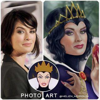 Lena Headey jako Zła Królowa z Królewny Śnieżki