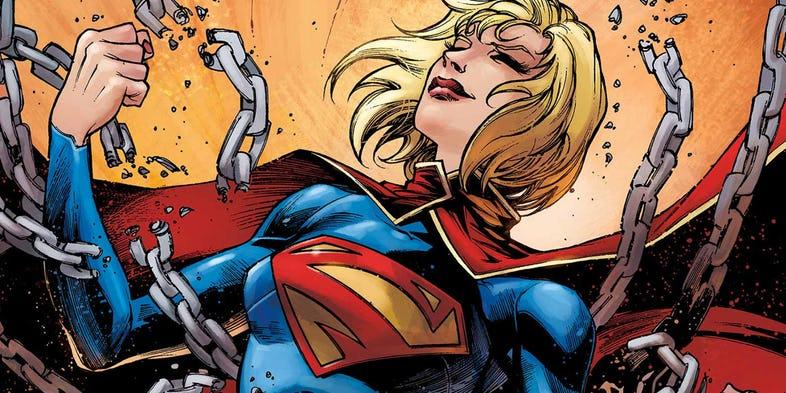 Sasha Calle jako Supergirl. Fanowska grafika obrazuje casting