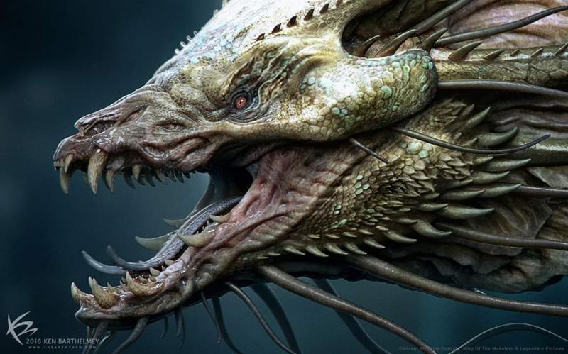 Godzilla 2: Król potworów - oto Behemoth. Szkice koncepcyjne potworów