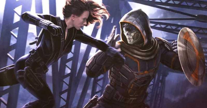 Czarna Wdowa - Taskmaster jako figurka. Lepsze spojrzenie na złoczyńcę filmu