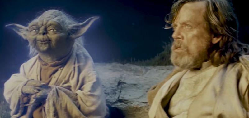 Ostatni Jedi - śpiewający Yoda i zagubiony Luke. Parodia od Bad Lip Reading