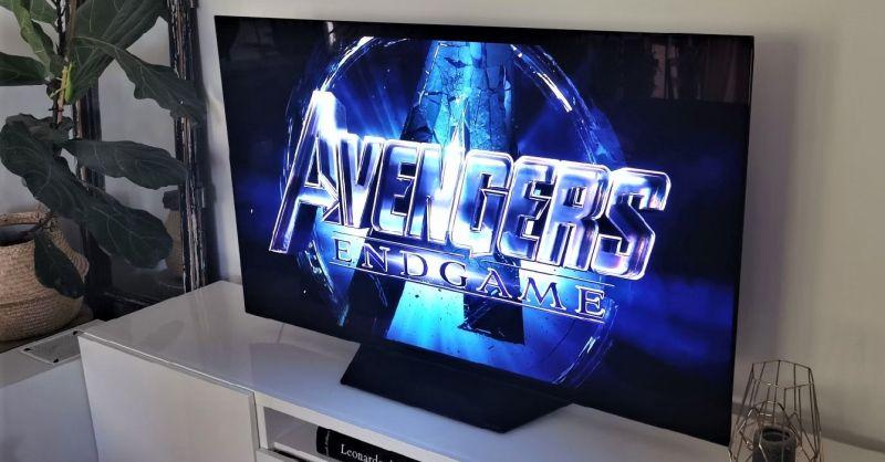 Avengers: Koniec gry na ekranie telewizora LG OLED 55B9