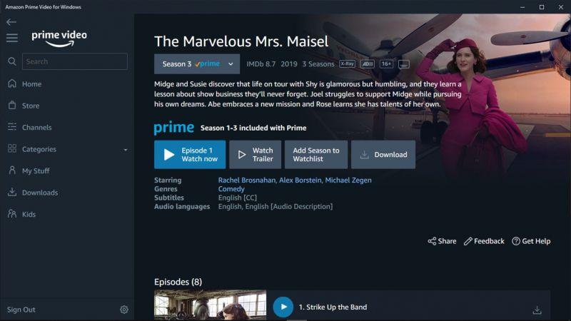 Filmy z Amazon Prime Video otworzymy w trybie offline