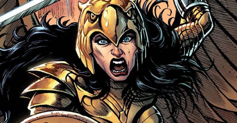 Wonder Woman w szale bitewnym masakruje armię Darkseida. W 1984 takich scen zabrakło