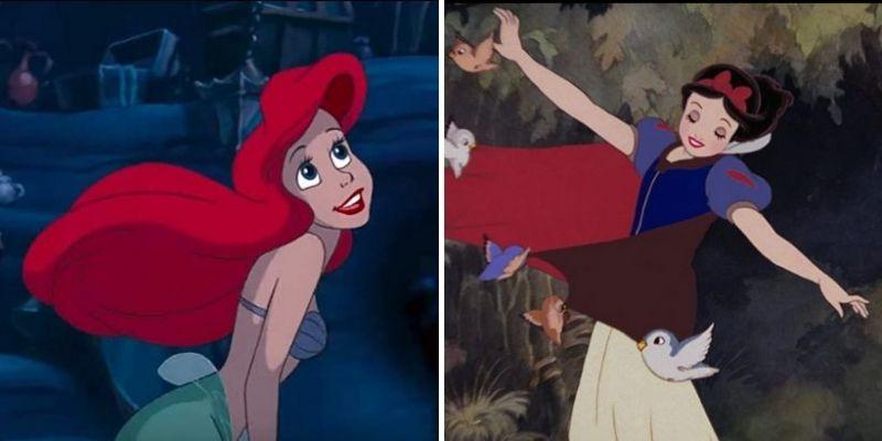 Księżniczki Disneya spotkały się na żywo. Mała Syrenka i Królewna Śnieżka na wspólnym zdjęciu