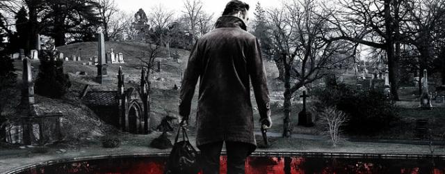 """Liam Neeson i jego mapa śmierci. Grafika promująca thriller """"Krocząc wśród cieni"""""""