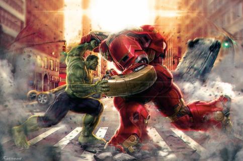 "Hulk kontra Hulkbuster! Spektakularny klip z ""Avengers: Czas Ultrona""!"
