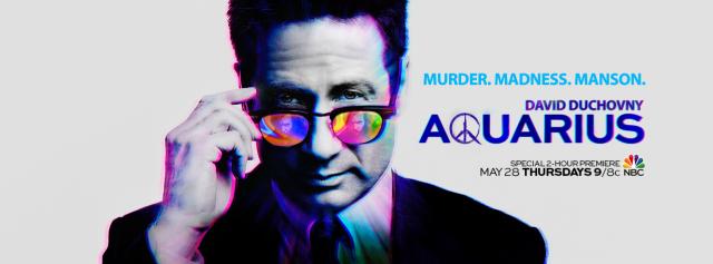David Duchovny na grafice promującej 2. sezon Aquarius