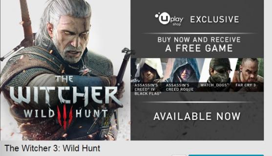 """Kup grę """"Wiedźmin 3: Dziki Gon"""" z Uplay Shop , a jedną dodatkową dostaniesz za darmo"""