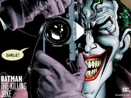 "Mark Hamill jako Joker w filmie ""Batman: Zabójczy żart"""