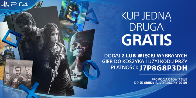 Promocja na PlayStation Store: kup jedną grę, drugą dostaniesz za darmo