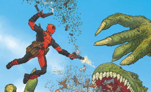 Plansze z komiksu Deadpool. Martwi prezydenci