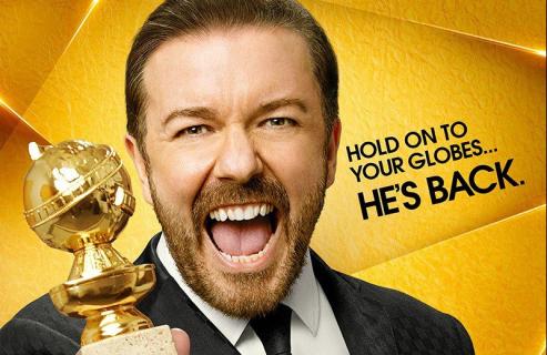 Ricky Gervais z góry przeprasza za żarty podczas rozdania Złotych Globów