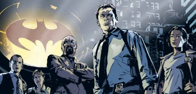 Plansze z komiksu Gotham Central