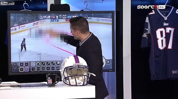 Wpadka podczas analizy meczu: prezenter narysował penisa