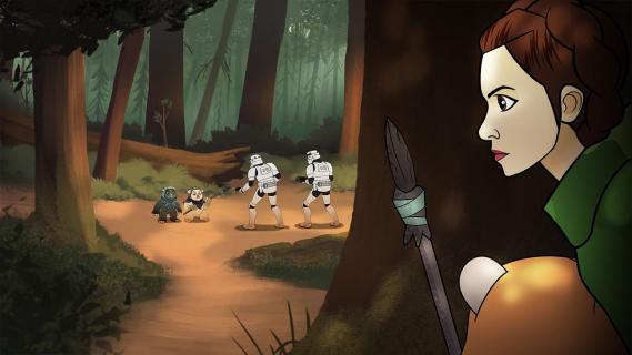 Leia i Wicket w akcji. Zobacz 3. odcinek Star Wars Forces of Destiny
