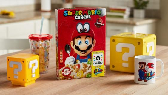 W USA pojawią się płatki z Super Mario. Ich pudełko zadziała jak Amiibo