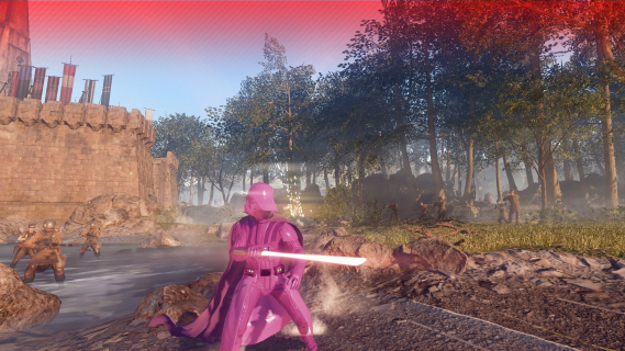 Różowy Darth Vader w Star Wars Battlefront II. Nietypowa modyfikacja