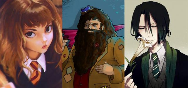 Harry Potter – bohaterowie jako anime. Ta galeria podbija sieć