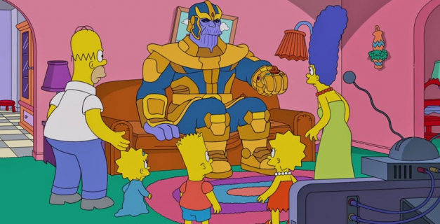 Simpsonowie – Thanos z MCU znów wymazuje. Zobacz zabawne wideo