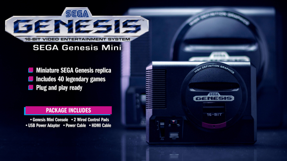 W co zagramy na SEGA Genesis Mini? Zwiastun przedstawia minikonsolkę