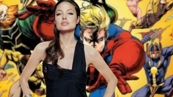 The Eternals - Angelina Jolie w blond włosach na zdjęciach z planu