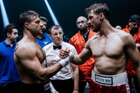 Fighter - zdjęcia z polskiego filmu o sportach walki. Stramowski i Roznerski w ringu