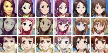 Sztuczna inteligencja przerobi zdjęcie twarzy na mangowy rysunek