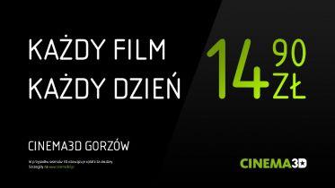 Cinema3D - nowe ceny w Kłodzku i Gorzowie Wielkopolskim