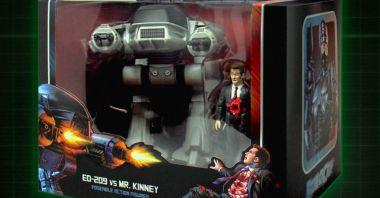 RoboCop: bohaterowie brutalnej sceny z wersji reżyserskiej w formie klasycznych retro-figurek