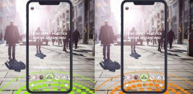 Snapchat ułatwi utrzymanie dystansu w trakcie pandemii