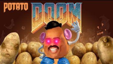 Doom odpalony na kalkulatorze zasilanym ziemniakami