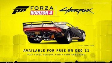Cyberpunk 2077 łączy siły z Forza Horizon 4. Zobacz zwiastun dodatku