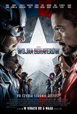 Kapitan Ameryka Wojna bohaterów - polski plakat