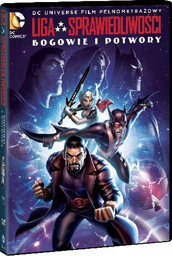 """""""Liga Sprawiedliwości: Bogowie i potwory"""" - okładka DVD"""